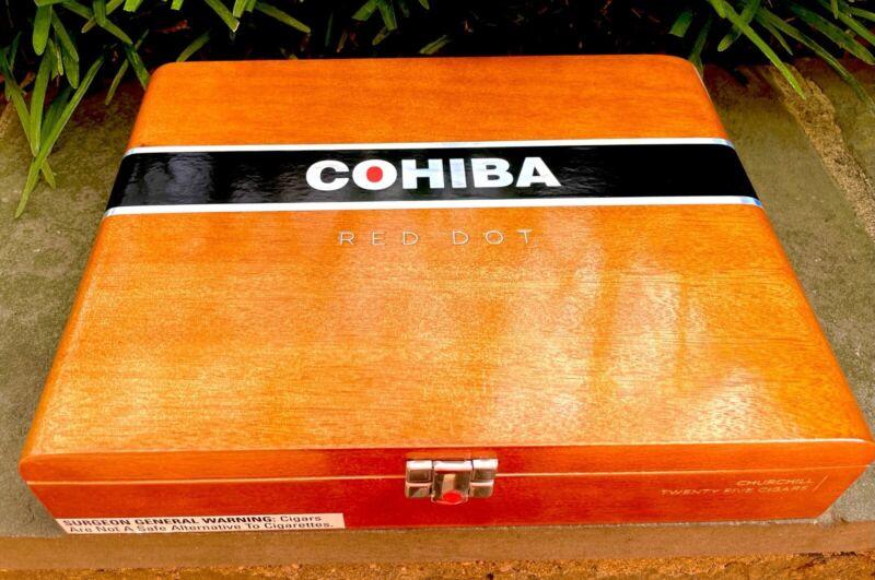 Cohiba Red Dot Corona Empty Cigar Box