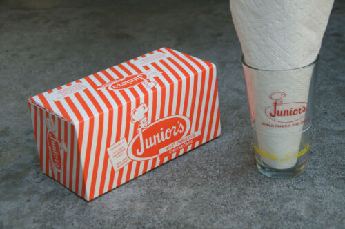 Vintage Juniors World Famous Egg Cream Recipe Mixing Glass Brooklyn U-Bet Syrup