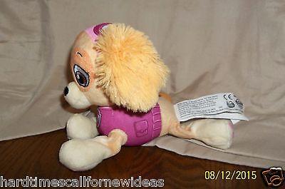 """Nickelodeon Paw Patrol Skye Dog Plush 7"""" Spin Master Girl Dog Pink"""