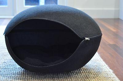 Cat Bed Pod Cave Pet Dog Black