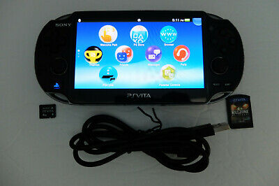 Sony PS Vita OLED PCH-1001 Console Wifi 4gb card & Call Of Duty Game & USB Cord