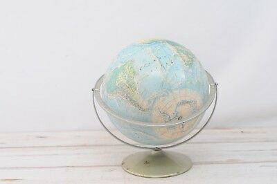 Vintage Rand McNally World Portrait 3 Axis Rotating Globe