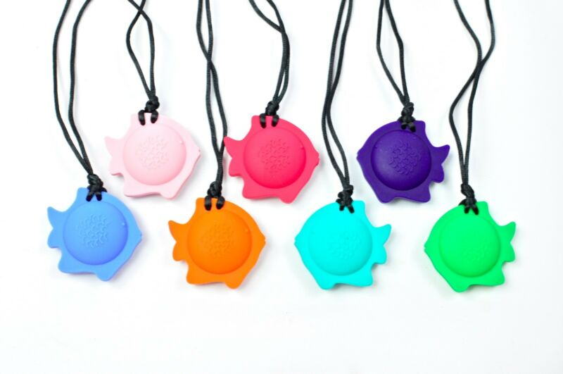 Silicone Teething Nursing Breastfeeding Necklace Sensory Pendant- Fish