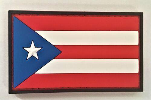 Puerto Rico PR Flag PVC Patch Hook & Loop Sniper SEAL Recon SOI Ranger 814