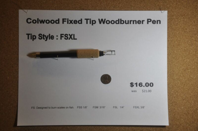 Colwood Fixed Tip Woodburner Pen Tip Style FSXL