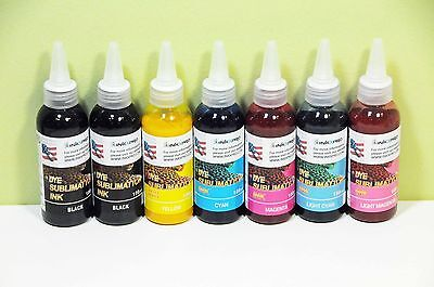 INKXPRO Brand 7X100ml Professional Dye Sublimation Ink for Epson 1400 1430 CISS