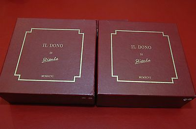 "Stipula ""Il Dono"" Solid Gold And Sterling Silver Fountain Pen Matching Set, M"