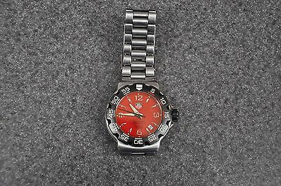 Tag Heuer Formula 1 WAC1113-0 Stainless Steel Red Dial Men's Watch N3643