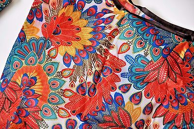 Eco Reusable Foldable Shopping Tote Bag Peacock White Red Yellow Green Blue