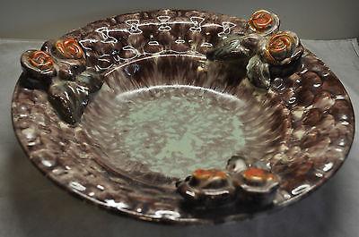 alte  große Keramik Schale mit Blüten