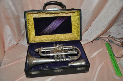 Cornet  Instrument C.G. Conn Cornet #97642 hard case Mute & Mouthpieces ETC.