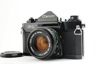【Almost Mint】Canon F-1 Late Model SLR Camera FD 50mm f/1.8 From JAPAN