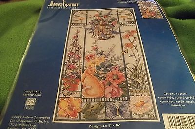 Janlynn Counted Cross Stitch kit SUMMER CAT SAMPLER NEW IN PACKAGE