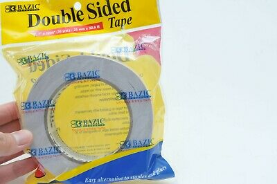 Double Sided Tape Strong Adhesive Bazic 1 X 36 Yard For Craft Class Office