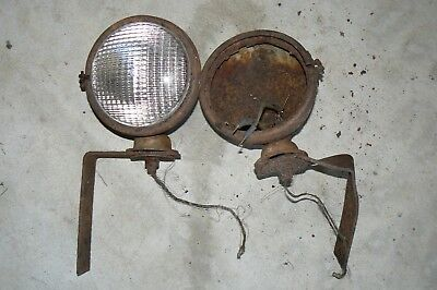 Ford 8n 9n 2n Tractor Headlights And Brackets