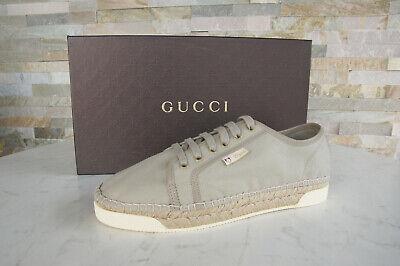 Gucci 42 7,5 Baskets Chaussures Plates à Lacets Chaussures Beige Neuf Autrefois
