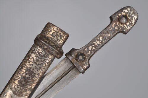 Antique Rare Russian Turkish Caucasian Silver Kindjal Dagger Sword