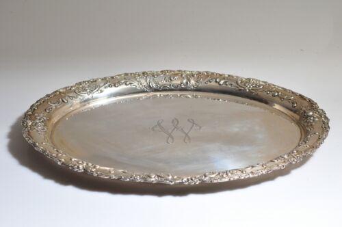 Silver Tray German 800, Hallmark WHH Large Platter- Monogram W.. Beautiful