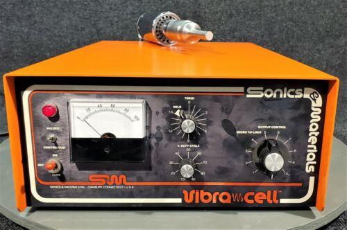 SONICS & MATERIALS VIBRA CELL VC-500 HOMOGENIZER w/ V1A ULTRASONIC HORN / TIP