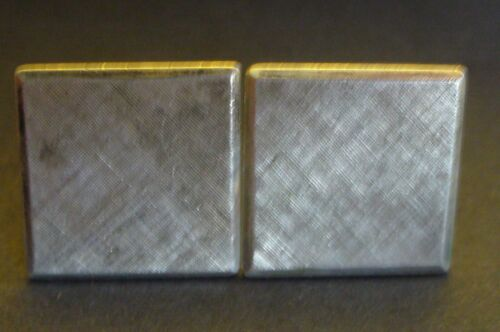 Vintage Sterling Silver Square Etched and Textured Cufflinks signed with A