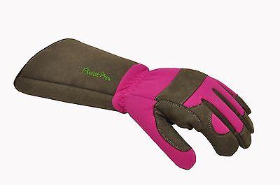 G & F 2430 FloristPro Long-Sleeve Rose gardening Gloves - Women Medium, 1 Pair
