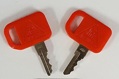 2 John Deere Skid Steer Equipment Keys-new-columbia Pack Cart