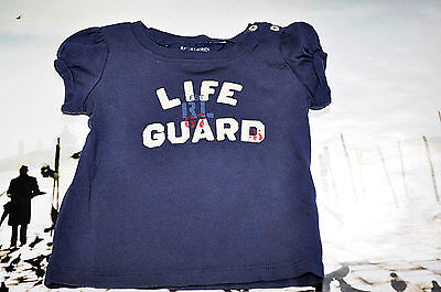 "Ralph Lauren baby girl navy shirt  ""life guard"" size 9m"