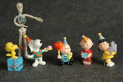 Snoopy PVC Peanuts Birthday Cake Topper Vintage Applause Lot - Snoopy Birthday