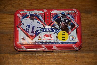 1997 Donruss Preferred Football Cards Unopened Tin Sealed Deion Kordell NEW