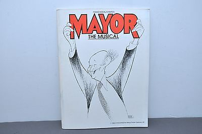 Mayor The Musical Piano/Vocal/Chords Selections Paperback 1985 Rare!