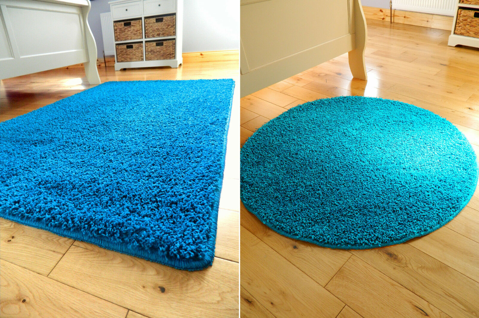 Round Teal Rug Home Decor