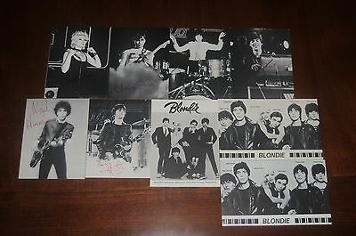 Blondie complete 9 postcard set Debbie Harry Original 1979 Official Fan Club