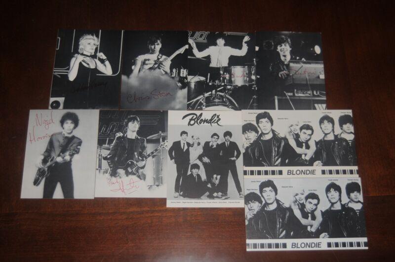 Blondie complete 9 postcard set Debbie Harry Original 1979 Official Fan Club