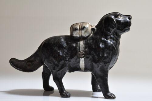 Antique Cast Iron Dog Bank Newfoundland St. Bernard