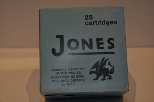 Vintage RARE JONES 12 Ga.15/16 LIGHT LOAD Ammunition SHOTSHELLS Box EMPTY!