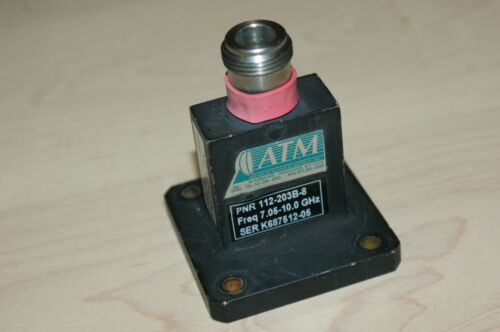 ATM Microwave WR112 N Coax Adapter 7.05 - 10 GHz X Band