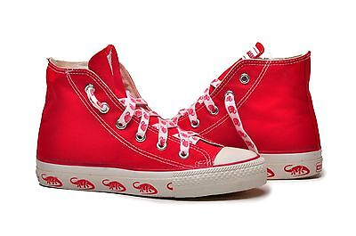 CONVERSE Chuck Taylor All Star Hi Top Shoes Kids Canvas Red Dino Diplodocus Chuck Taylor Kids Top