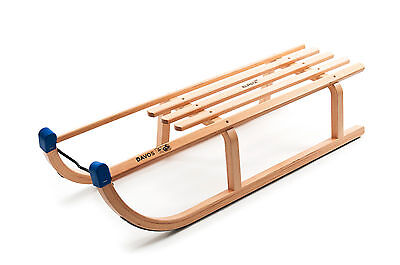 Davos Wooden Sledge 100cm - Christmas Snow Traditional Sleigh - New
