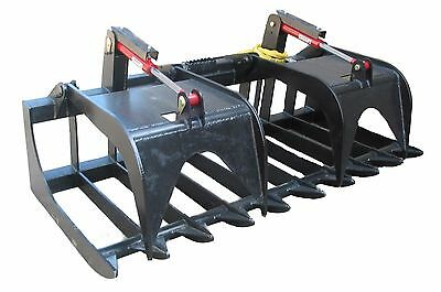 Hd 84 Inch Extreme Root Grapple Bucket Skid Steer Quick Attach Free Shipping