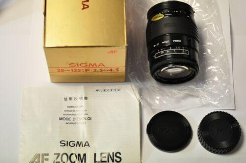 Sigma 35-135mm f3.5-4.5 zoom lens with Minolta AF mount.  NOS.