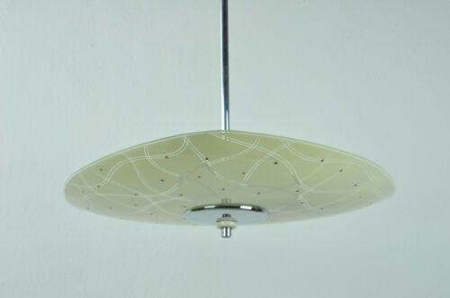 Vintage Mid Century Triangle Atomic Glass Ceiling Pendant Lamp Light Lighting