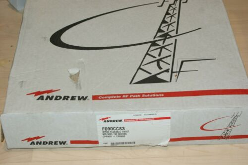 """Andrew F090CCS3 WR90 Flexible Twist 36"""" Waveguide CPR90G 8-12 GHz w/Hardware"""