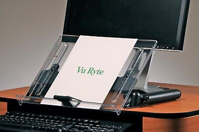 Vu Ryte Adjustable Document Copy Holder In-line With Monitor - Vur 14dc