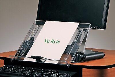 Adjustable In Line Document Holder - Vu Ryte Adjustable Document Copy Holder, In-Line with Monitor - VUR 14DC