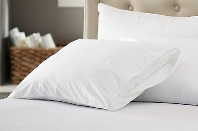 200 Thread Count 100% Cotton Zippered Pillow Protectors USA Made 2, 4 or 6 Pack (Cotton Pillow Protector)