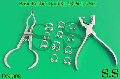 Basic Rubber Dam Kit 13 Pieces Set Dental Surgical Instruments Dn-302