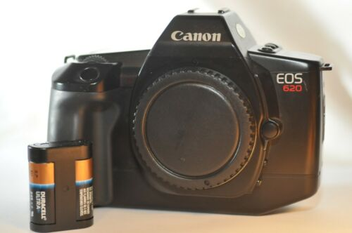 Canon EOS 620 GR-20 Grip 35 mm FILM SLR Analog camera body ONLY battery WORKING