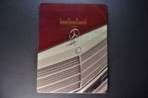1984 Mercedes Benz Colors Brochure 380SL 300SD 380SE 500 SEL SEC Original 84