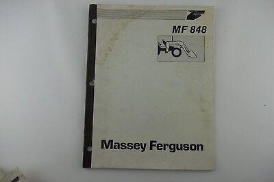 Massey Ferguson Mf-848 Tractor Agricultural Loader Service Shop Repair Manual