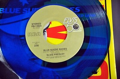 ELVIS Blue Suede Shoes b/w Promise Orig.1984 US 7